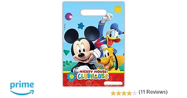 amscan Pack 6 Bolsas Fiesta, Mickey Mouse, Unica, 6 Unidades