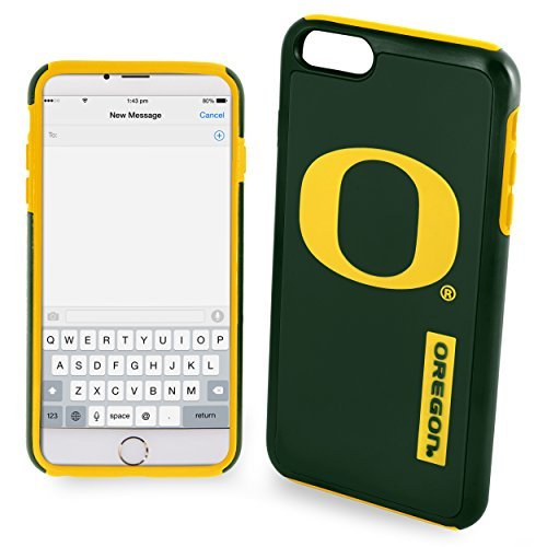 NCAA Oregon IPhone 6 Plus Dual Hybrid Case (2 Piece), Green by Forever