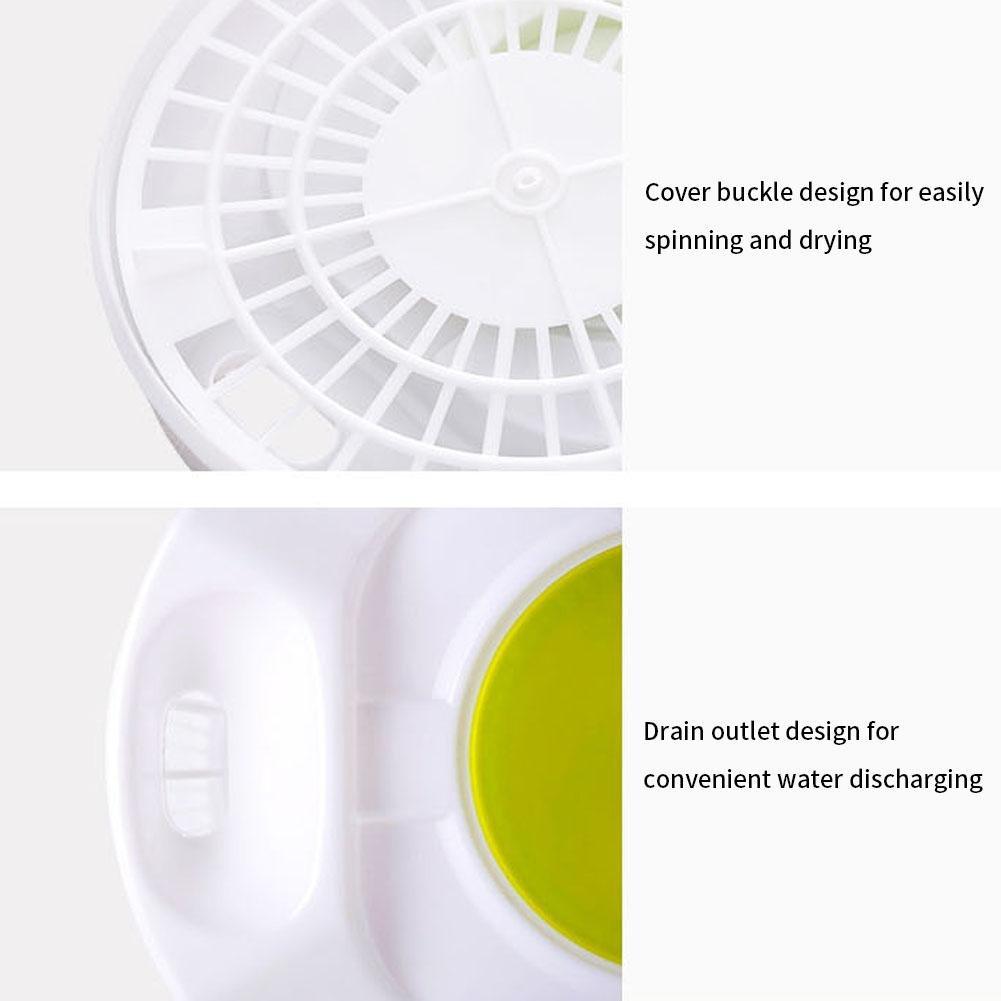 Fruits Salad Salad Dryer Large Polypropylene Salad Spinner Foldable Manual Suitable for Vegetables