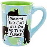 Enesco Our Name Is Mud by Lorrie Veasey Women and Cats Mug, 4-1/2-Inch