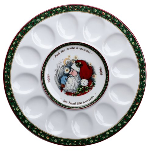 Portmeirion A Christmas Story 12-Inch Hors d'Oeuvres Egg Tray 353497