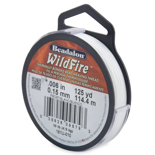 Beadalon WildFire .006-Inch Frost, 125-Yard