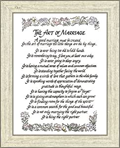 Wedding Gift Poem For Home Improvements : Amazon.com: The Art of Marriage Framed Poem: Prints: Posters & Prints