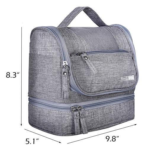 HOKEMP Toiletry Bag Travel Waterproof Cosmetic Bag Multifuncation Organizer Bag Portable Makeup Pouch - Gray by HOKEMP (Image #3)