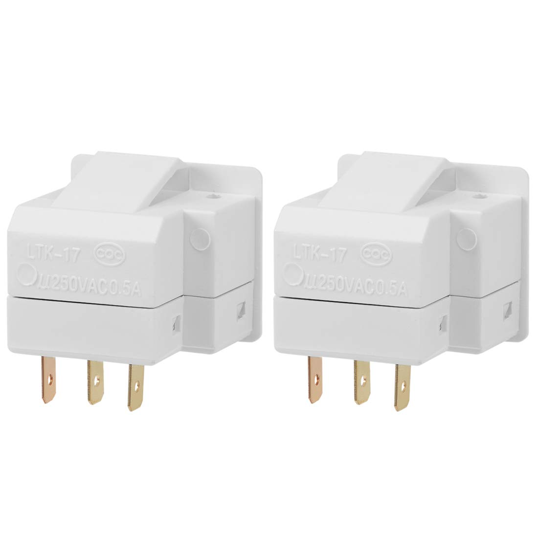uxcell Refrigerator Door Light Switch LTK-17 Momentary Fridge Switch 1NO 1NC AC 250V 0.5A 2pcs