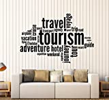Wall Stickers Vinyl Decal Tourism Travel Adventure Quote Words Inspire Message (z1349i) (M 22.5 in X 35 in)