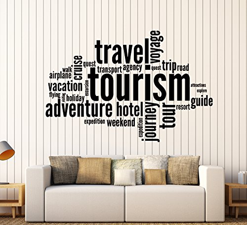 Wall Stickers Vinyl Decal Tourism Travel Adventure Quote Words Inspire Message (z1349i) (M 22.5 in X 35 in) by Wallstickers4you