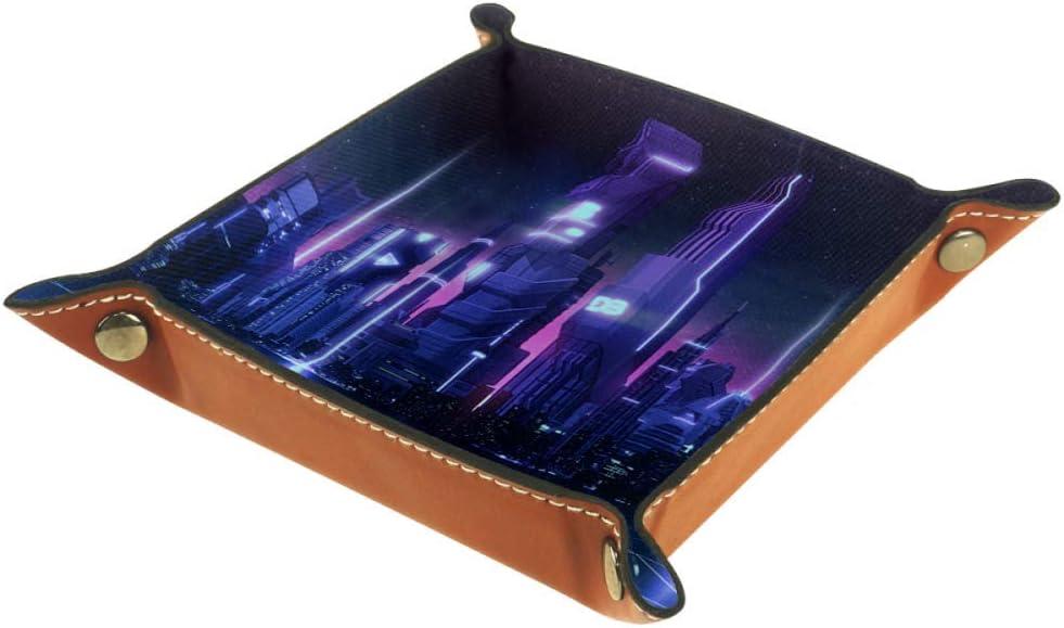 Amazon Com Futuristic City Cube Storage Box Keys Watch Nightstand Organizer Desk Storage Box Toys Games