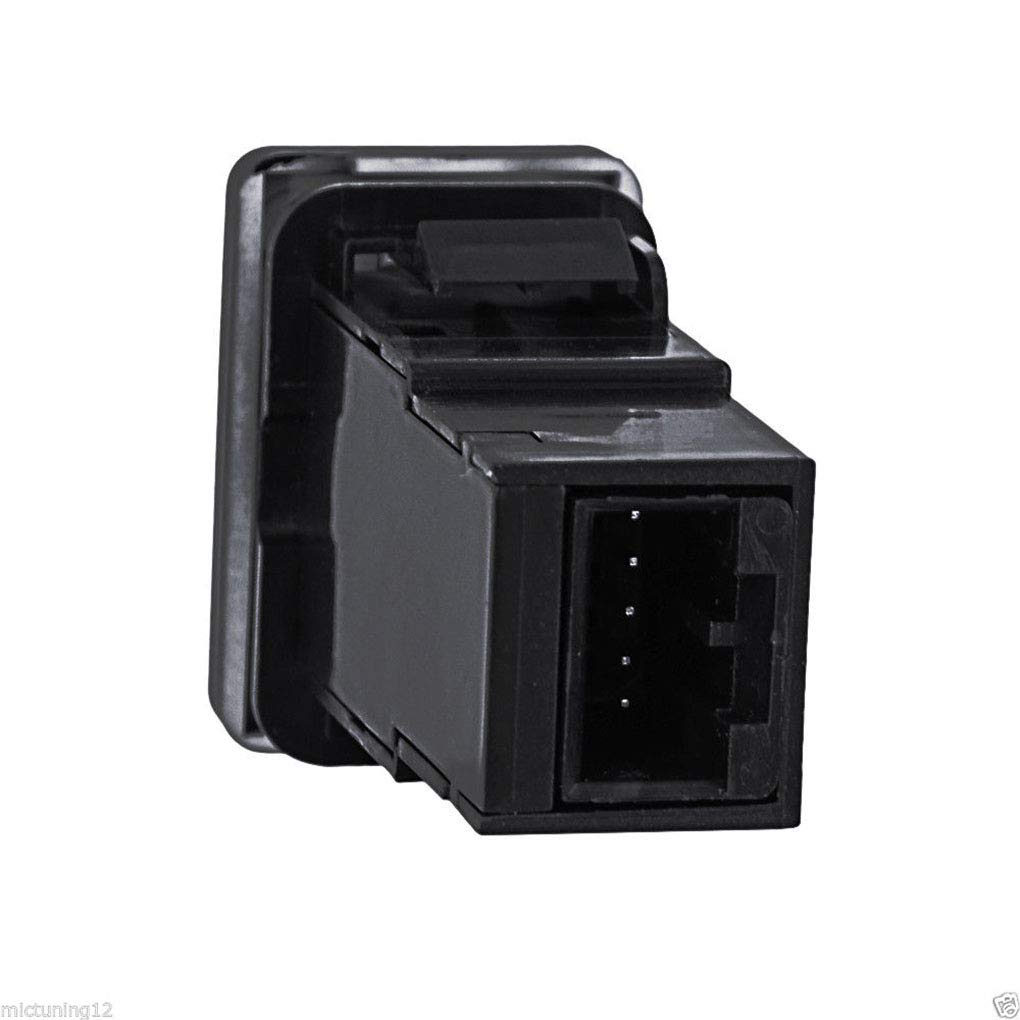 Regard Natral Coche En del bot/ón del Interruptor del Empuje del Alambre de Cobre Cubierta de ABS Azul Barra de luz LED para Toyota Yaris Tundra