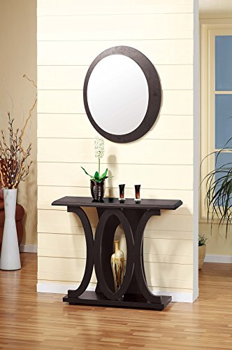Smart home 13704 Traditional Console Table in Red Cocoa