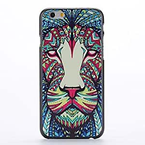 PEACH Coloured Drawing Lion Embossment Pattern PC Hard Case for iPhone 6
