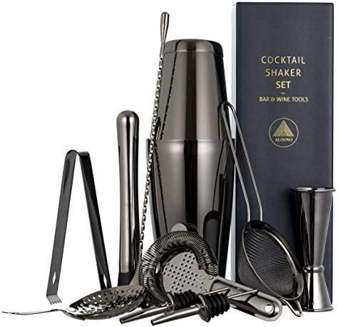 11 piece Black Cocktail Shaker Bar product image
