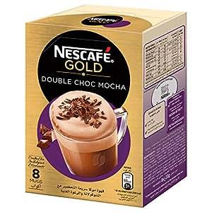 NESCAFE GOLD Double Choc MOCHA Instant Foaming Coffee with Chocolate Mix 23g (8 Sticks)