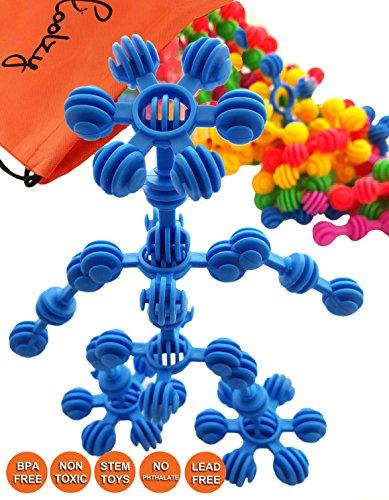 Skoolzy Star Flex Creative Building Blocks - Preschool STEM Toys for Girls and Boys - Educational Kids Connecting Toy, Construction Kit Brain Builders