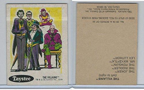 [1978 Taystee Bread, DC Super Heroes, #29 The Villians] (Superheros And Villians)