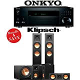 Klipsch RP-250F 5.1-Ch Reference Premiere Home Theater Speaker System with Onkyo TX-RZ820 7.2-Ch 4K Network AV Receiver