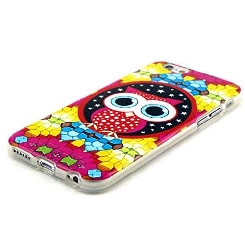 Apple iPhone 6 4.7 HQ TPU SILICON NIGHT OWL design case coque housse smartphone bumper Flip bag Cover smartphone protection thematys®