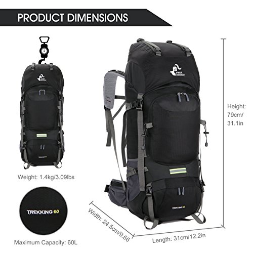 7b383091c3 Free Knight 60L Hiking Backpack Mountaineering Camping - Import It All