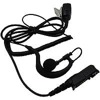 Tenq G Shape Police Earpiece Headset Mic for Motorola Radio Xpr3300 Xpr3500 XIR P6620 XIR P6600 E8600 E8608 Mototrbo