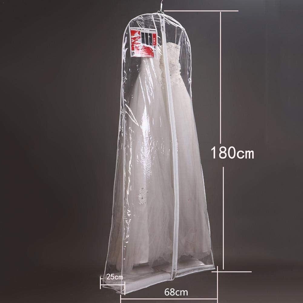 Funda de Tela Househome Fundas de Ropa a Tejido Larga de almacenaje para Vestido de Novia Vestido al Polvo de Novia Ropa Bolsa de Ropa Protector Funda A:160 * 58 * 80cm