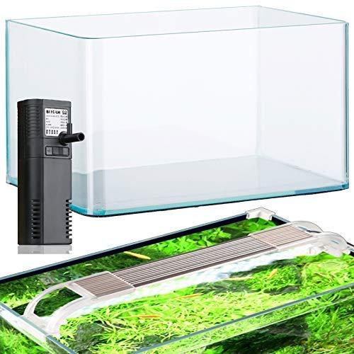 Acuarios acuario 12,5 litros de cristal filtro y luz LED: Amazon.es: Productos para mascotas