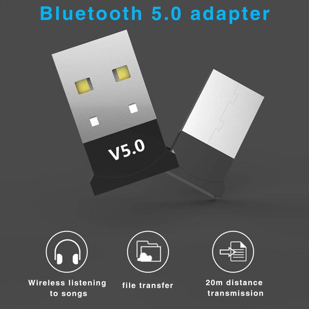 Rainrain27 Bluetooth Adapter,Bluetooth Audio Receiver Dongle Music Transmitter Car Computer USB Interface Universal 5.0 USB Desktop Computer Free Drive