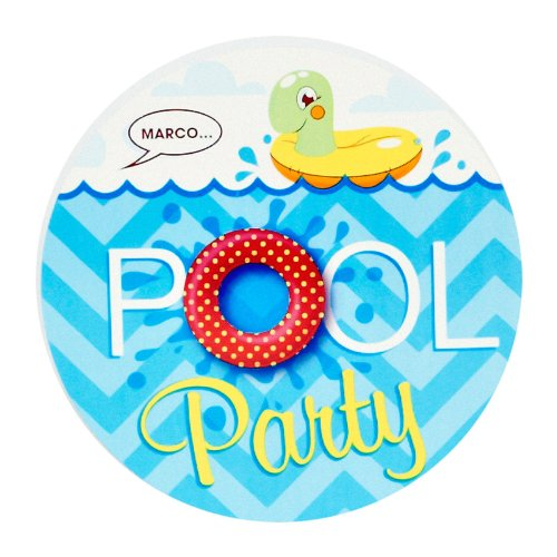 Beach Ball Invitation (Summer Beach Ball Pool Party Supplies - Invitations (8))