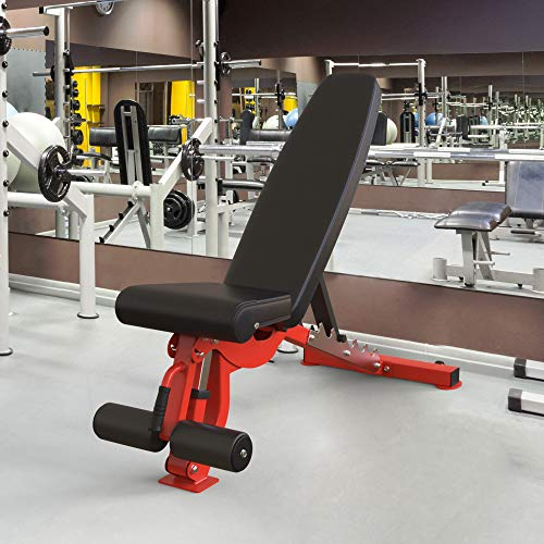 Merax Weight Bench Flat Bench, Incline and Decline Bench with 7 Positions for Weightlifting and Strength Training,Weight Capacity 1000LBS