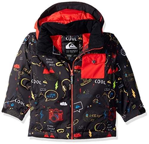 Quiksilver Boys' Big' Little Mission 10K Grow System Snow Jacket, Black MAOAM TATT, (Best Quiksilver Snow Jackets)