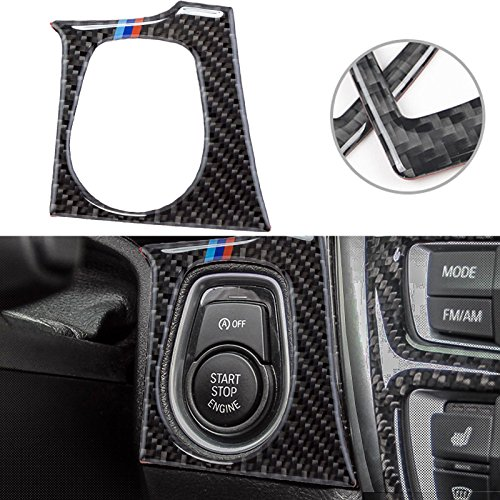 ///Color Real Carbon Fiber Engine Start Button Trim Sticker For BMW 3 4 Series M3 (3 Series Engine)