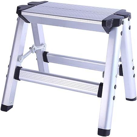 Plataforma de Trabajo Escalera de Aluminio, Escalera portátil de 3 escalones Escalera de Taburete, Multifunción portátil Plegable Lavado de Coches Hogar Taburete de escalón para Exteriores (Plata): Amazon.es: Hogar