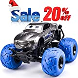 NQD RC CAR Electric RC Car Off Road Vehicle 2.4Ghz Radio Remote Control Car 360° Spin Monster Truck Dancing Stunt Cartoon Toy Car, Blue 9025