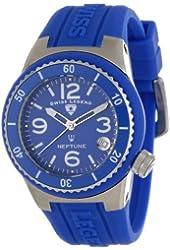 Swiss Legend Women's 11840P-03 Neptune Blue Dial Blue Silicone Watch