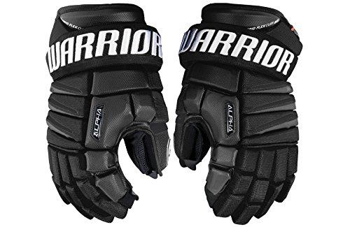 Warrior Senior Alpha Qx Pro Gloves, Size 15, Black (Senior Pro Hockey Gloves)
