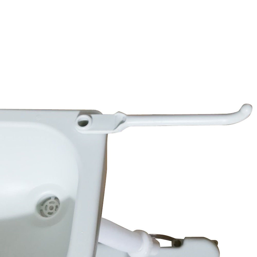 Portable Removable Flushing Toilet Outdoor Camping Travel Potty W/ Wash Basin Faucet Pipe Joint White 2.8 Gallon With Ebook by MRT SUPPLY (Image #8)