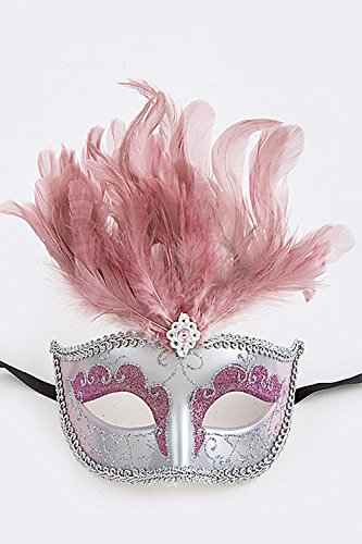KARMAS CANVAS JEWELED FEATHER ACCENT CLITTERED MASQUERADE MASK - Www Dior