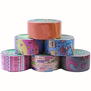 Duck Brand Duct Tape Set, Assorted Colors and Printed Patterns, 6 Rolls…