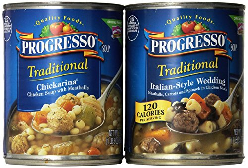 Progresso Soup Traditional Italian Style Recipes 6 Can Variety Pack