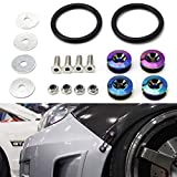 2015 chevy impala bumper - iJDMTOY Universal Fit Neo Chrome Finish JDM Quick Release Fastener Kit for Car Bumper Trunk Fender Hatch Lid