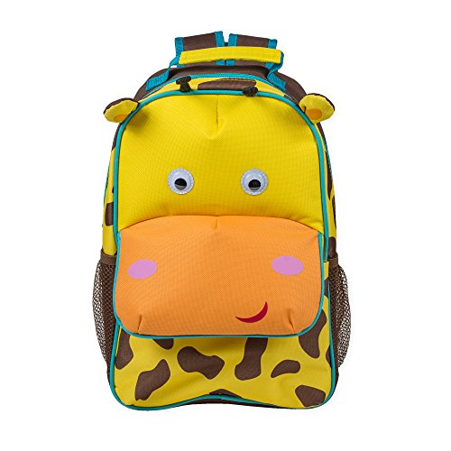 Brown Giraffe Single - Brown Spot Giraffe Dimensional Animal Shape Water Resistant Preschool Backpack