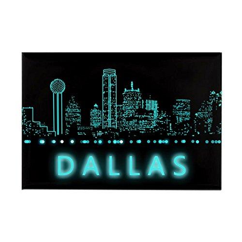 CafePress Digital Cityscape: Dallas, Texas Rectangle Magnet, 2
