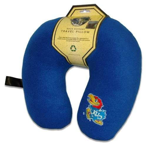 World's Best NCAA Feather-Soft Microfiber Neck Pillow, Kansas Jayhawks - Kansas Pillow