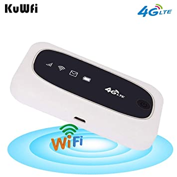 KuWFi 4G LTE Mobile WiFi Hotspot Travel Router Partner Enrutadores ...