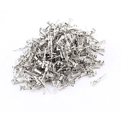 uxcell 500pcs Silver Tone Male Spade Crimp Terminals 1.5mm Wiring Connectors