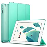 ESR Yippee Smart Case for iPad 2 3 4 - Smart Case Cover [Synthetic Leather] Translucent Frosted Back Magnetic Cover with Auto Sleep Wake Function [Light Weight] (Mint Green)
