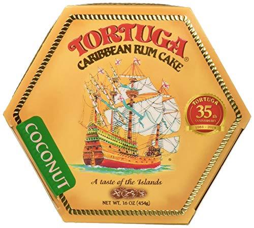 TORTUGA Caribbean Coconut Rum Cake - 16 oz. - The Perfect Premium Gourmet Gifts