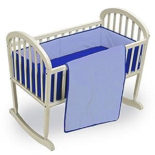 "Babykidsbargains Reversible Cradle Bedding Set, Light/Royal Blue, 18"" x 36"""