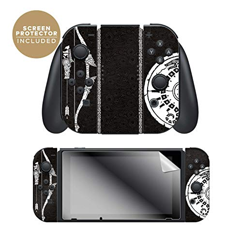 """Controller Gear Officially Licensed Nintendo Switch Skin & Screen Protector Set - Joy-Con - The Legend of Zelda: Breath of The Wild - """"Link Half Tone"""" - Nintendo Switch"""