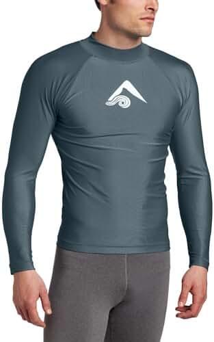 Kanu Surf Men's Long-Sleeve Platinum UPF 50+ Rashguard