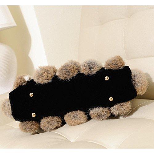 moda bandolera Penao bolso pelo vuelta Khaki de señora cien bolso cadena 32cmx8cmx22cm de piel tamaño wq0qvCxpnS
